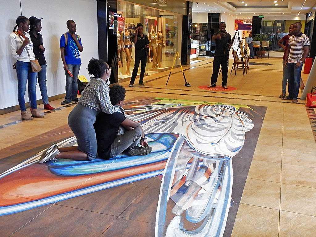 Cake Art Festival Nairobi : 3D Streetpainting Street art festival